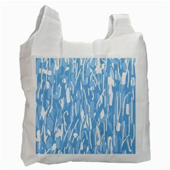 Blue pattern Recycle Bag (Two Side)
