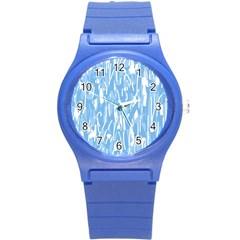 Blue pattern Round Plastic Sport Watch (S)