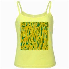 Yellow and blue pattern Yellow Spaghetti Tank