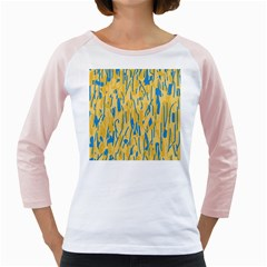 Yellow and blue pattern Girly Raglans