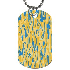 Yellow and blue pattern Dog Tag (Two Sides)