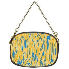 Yellow and blue pattern Chain Purses (Two Sides)