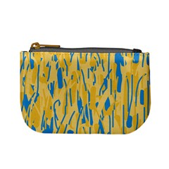 Yellow and blue pattern Mini Coin Purses
