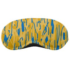 Yellow and blue pattern Sleeping Masks