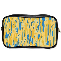 Yellow and blue pattern Toiletries Bags 2-Side