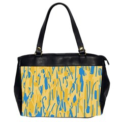 Yellow and blue pattern Office Handbags (2 Sides)