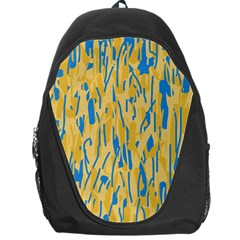Yellow and blue pattern Backpack Bag