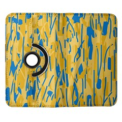 Yellow and blue pattern Samsung Galaxy Note II Flip 360 Case