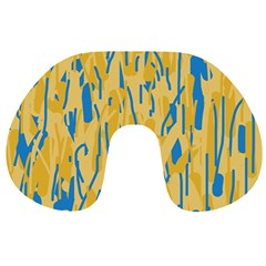 Yellow and blue pattern Travel Neck Pillows