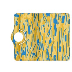 Yellow and blue pattern Kindle Fire HDX 8.9  Flip 360 Case