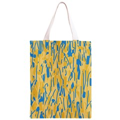 Yellow and blue pattern Classic Light Tote Bag