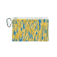 Yellow and blue pattern Canvas Cosmetic Bag (S)