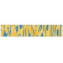 Yellow and blue pattern Flano Scarf (Large)