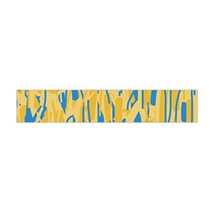 Yellow and blue pattern Flano Scarf (Mini)