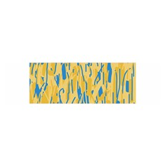 Yellow and blue pattern Satin Scarf (Oblong)