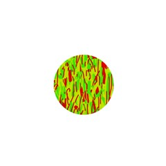Green and red pattern 1  Mini Buttons