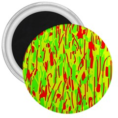 Green and red pattern 3  Magnets