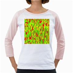 Green and red pattern Girly Raglans