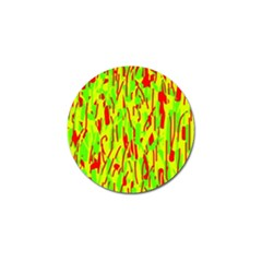 Green and red pattern Golf Ball Marker