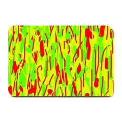 Green and red pattern Plate Mats