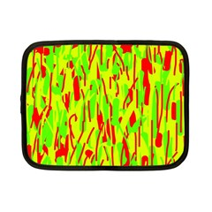 Green and red pattern Netbook Case (Small)