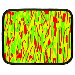 Green and red pattern Netbook Case (Large)