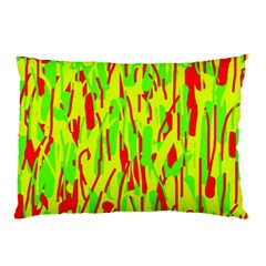Green and red pattern Pillow Case