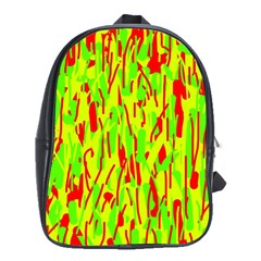 Green and red pattern School Bags(Large)
