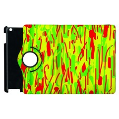 Green and red pattern Apple iPad 3/4 Flip 360 Case