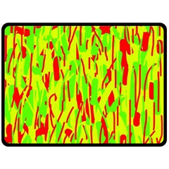 Green and red pattern Double Sided Fleece Blanket (Large)