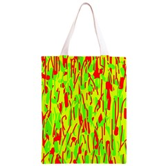 Green and red pattern Classic Light Tote Bag