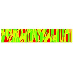 Green and red pattern Flano Scarf (Large)