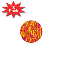 Pink and yellow pattern 1  Mini Buttons (10 pack)