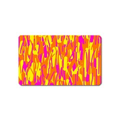 Pink and yellow pattern Magnet (Name Card)