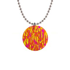 Pink and yellow pattern Button Necklaces