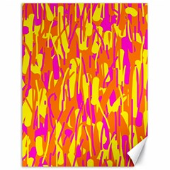 Pink and yellow pattern Canvas 18  x 24