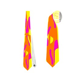 Pink and yellow pattern Neckties (Two Side)