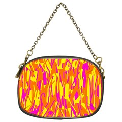 Pink and yellow pattern Chain Purses (One Side)