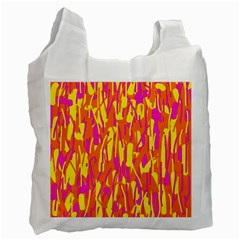 Pink and yellow pattern Recycle Bag (Two Side)