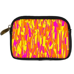 Pink and yellow pattern Digital Camera Cases