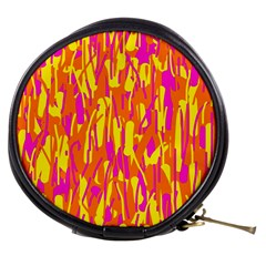 Pink and yellow pattern Mini Makeup Bags