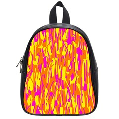 Pink and yellow pattern School Bags (Small)