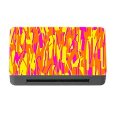 Pink and yellow pattern Memory Card Reader with CF