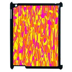 Pink and yellow pattern Apple iPad 2 Case (Black)