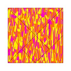 Pink and yellow pattern Acrylic Tangram Puzzle (6  x 6 )