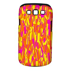 Pink and yellow pattern Samsung Galaxy S III Classic Hardshell Case (PC+Silicone)