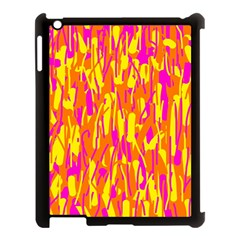 Pink and yellow pattern Apple iPad 3/4 Case (Black)