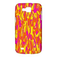 Pink and yellow pattern Samsung Galaxy Premier I9260 Hardshell Case