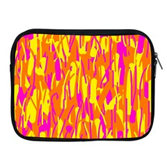 Pink and yellow pattern Apple iPad 2/3/4 Zipper Cases