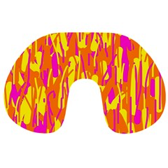 Pink and yellow pattern Travel Neck Pillows